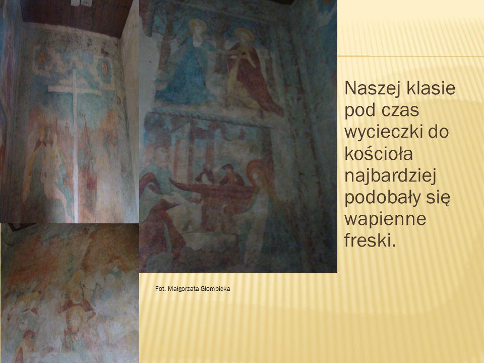 Naszej klasie pod czas wycieczki do kościoła najbardziej podobały się wapienne freski.
