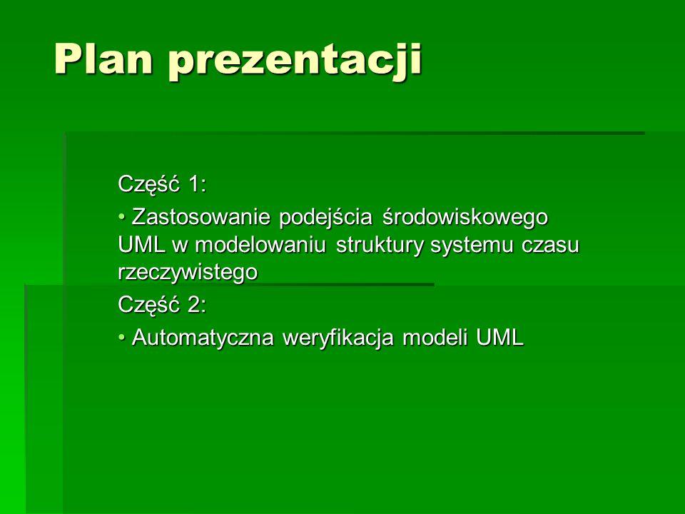 Plan prezentacji Część 1:
