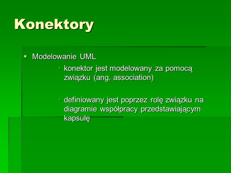 Konektory Modelowanie UML
