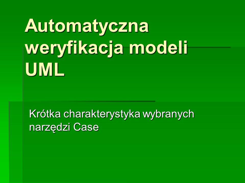 Automatyczna weryfikacja modeli UML