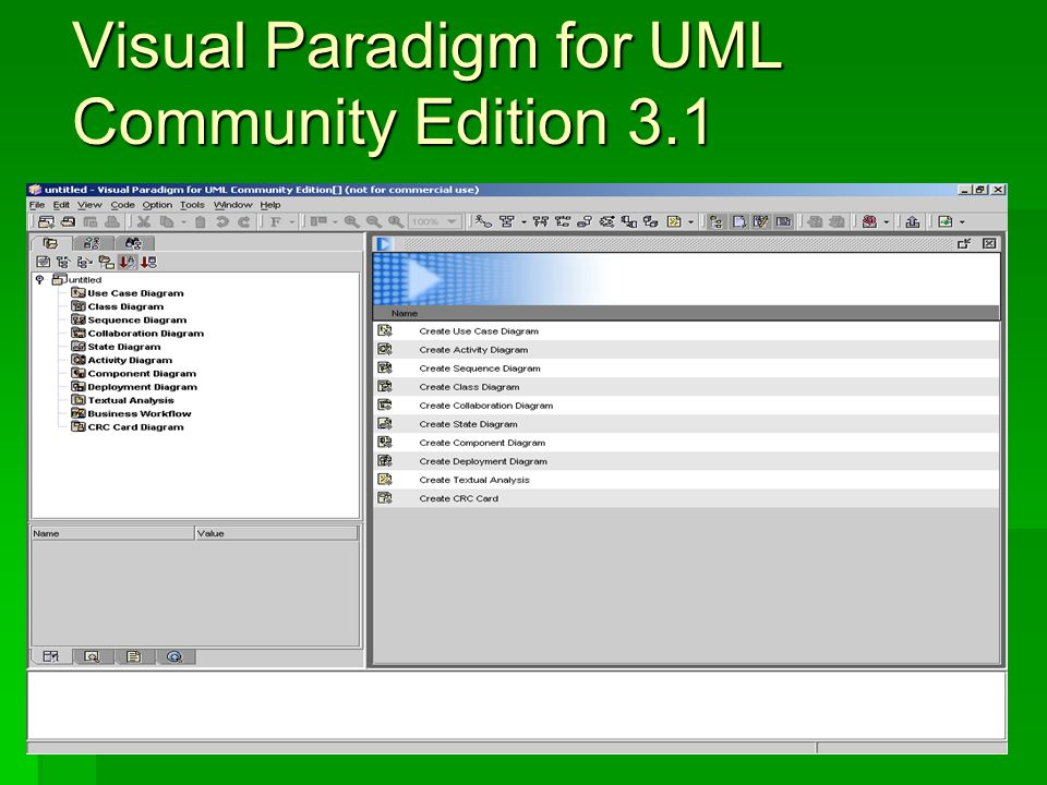 Visual Paradigm for UML Community Edition 3.1