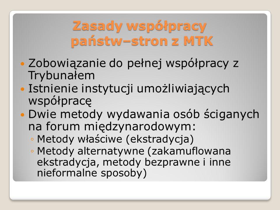 Zasady współpracy państw–stron z MTK