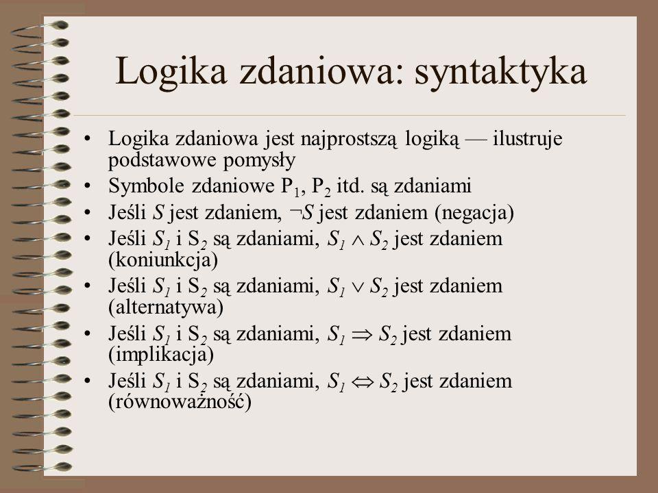 Logika zdaniowa: syntaktyka