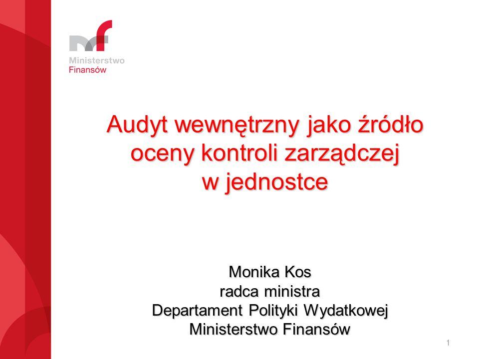 Audyt wewnętrzny jako źródło oceny kontroli zarządczej w jednostce