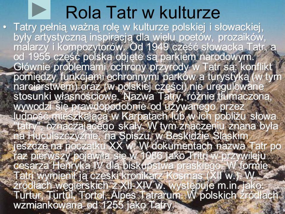 Rola Tatr w kulturze