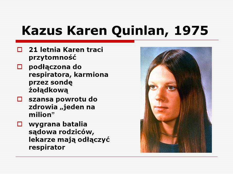 Kazus Karen Quinlan, 1975 21 letnia Karen traci przytomność
