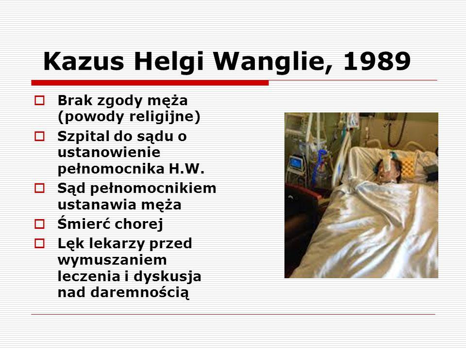 Kazus Helgi Wanglie, 1989 Brak zgody męża (powody religijne)