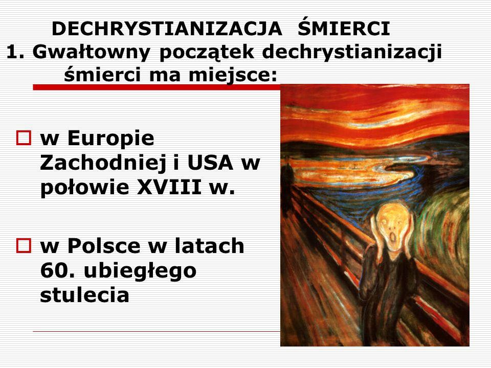 w Europie Zachodniej i USA w połowie XVIII w.