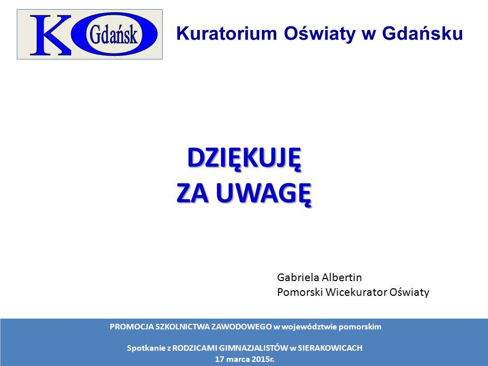 DZIĘKUJĘ ZA UWAGĘ O K Kuratorium Oświaty w Gdańsku
