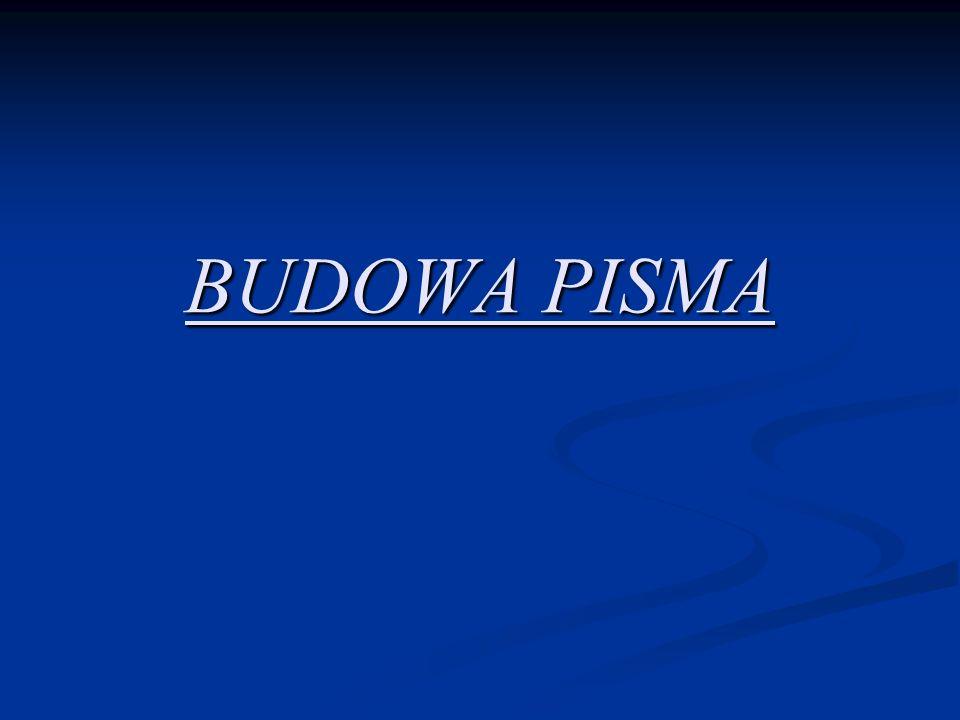 BUDOWA PISMA