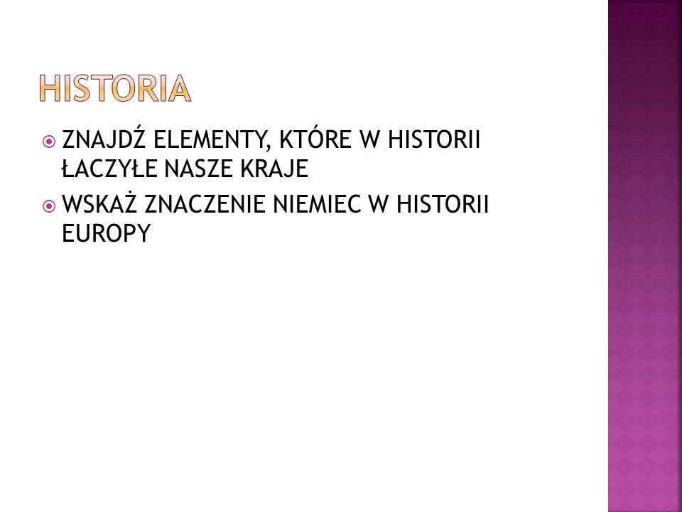 historIA ZNAJDŹ ELEMENTY, KTÓRE W HISTORII ŁACZYŁE NASZE KRAJE