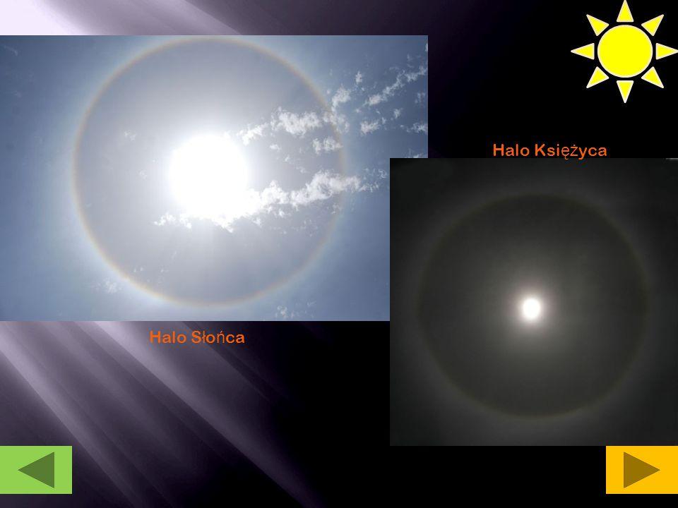 Halo Księżyca Halo Słońca