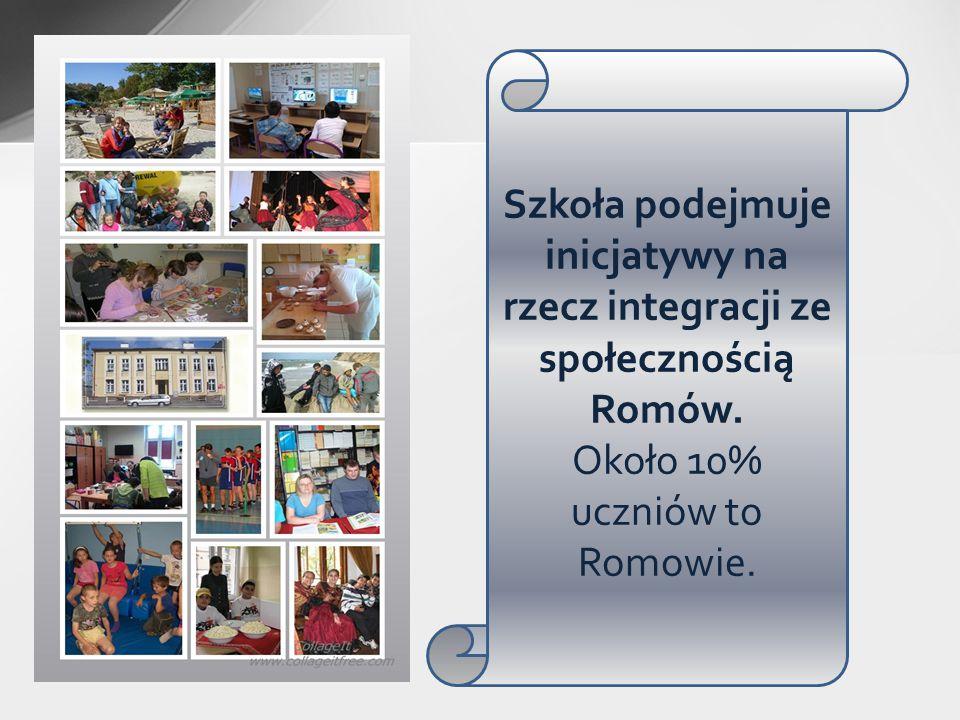 Około 10% uczniów to Romowie.