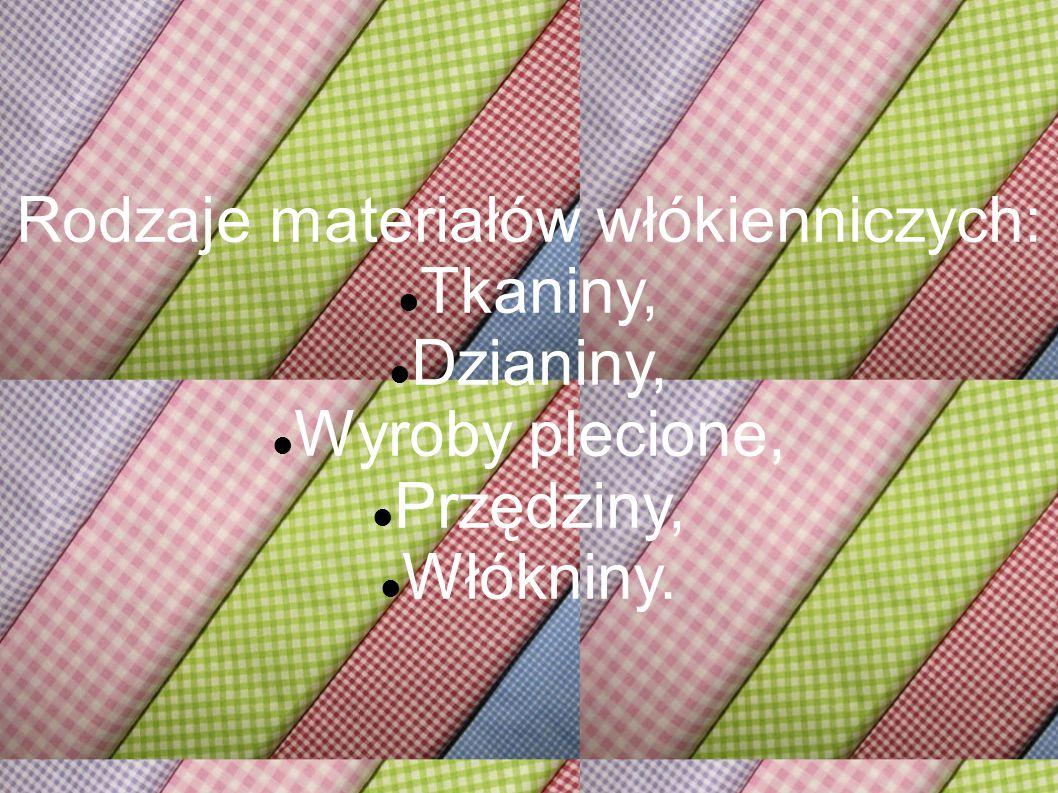 Rodzaje materiałów włókienniczych: