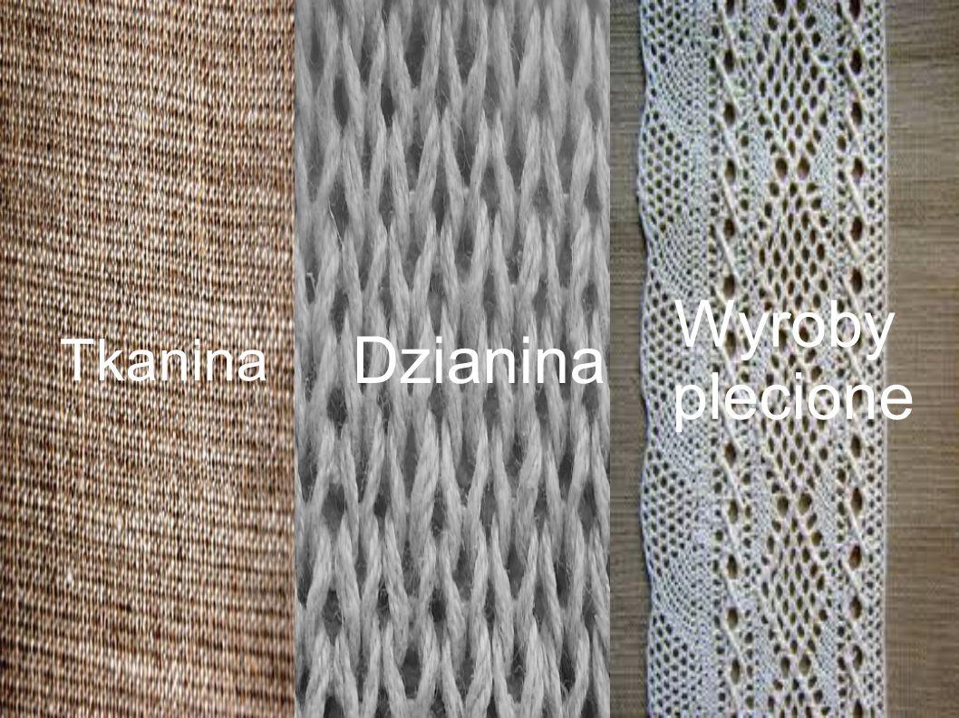 Tkanina Dzianina Wyroby plecione Wygląd