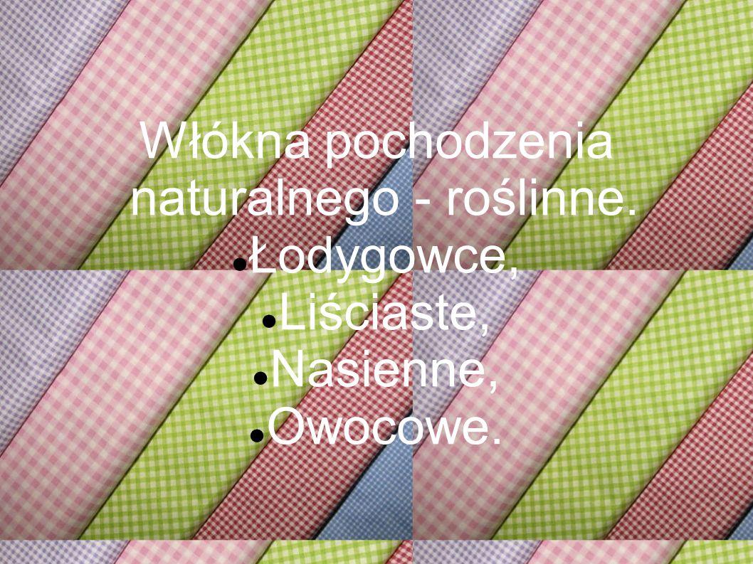 Włókna pochodzenia naturalnego - roślinne.
