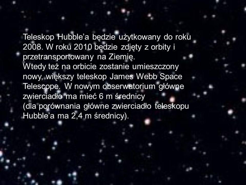 Teleskop Hubble'a będzie użytkowany do roku 2008