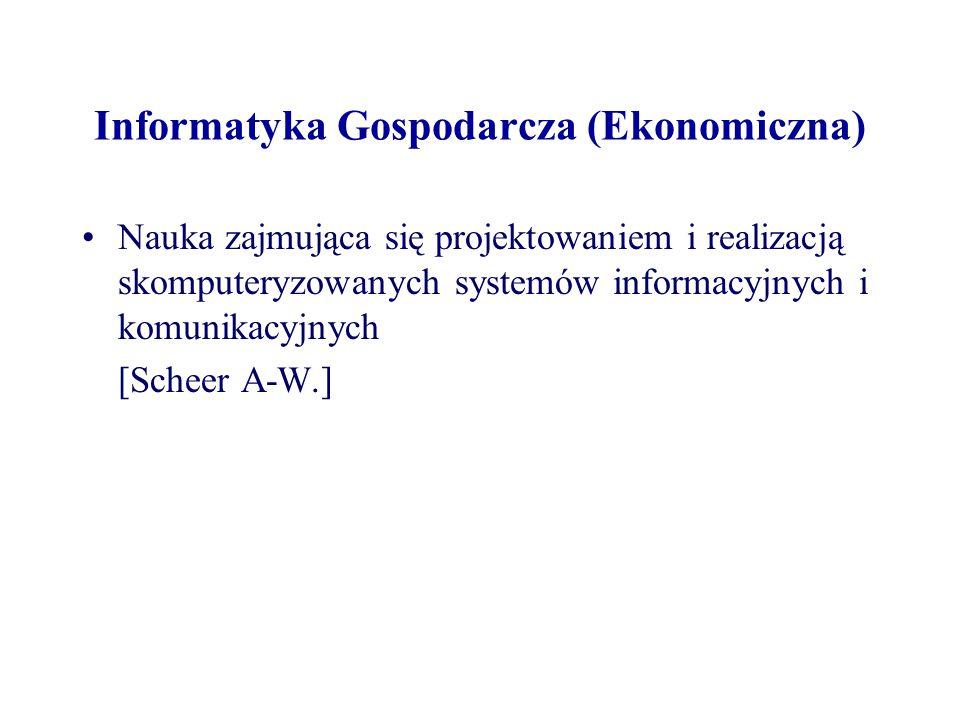 Informatyka Gospodarcza (Ekonomiczna)