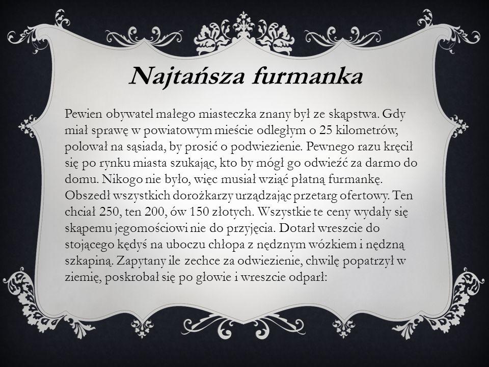Najtańsza furmanka