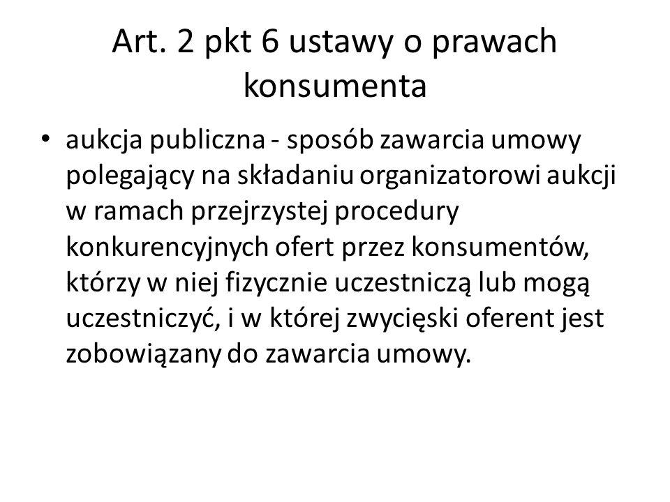 Art. 2 pkt 6 ustawy o prawach konsumenta