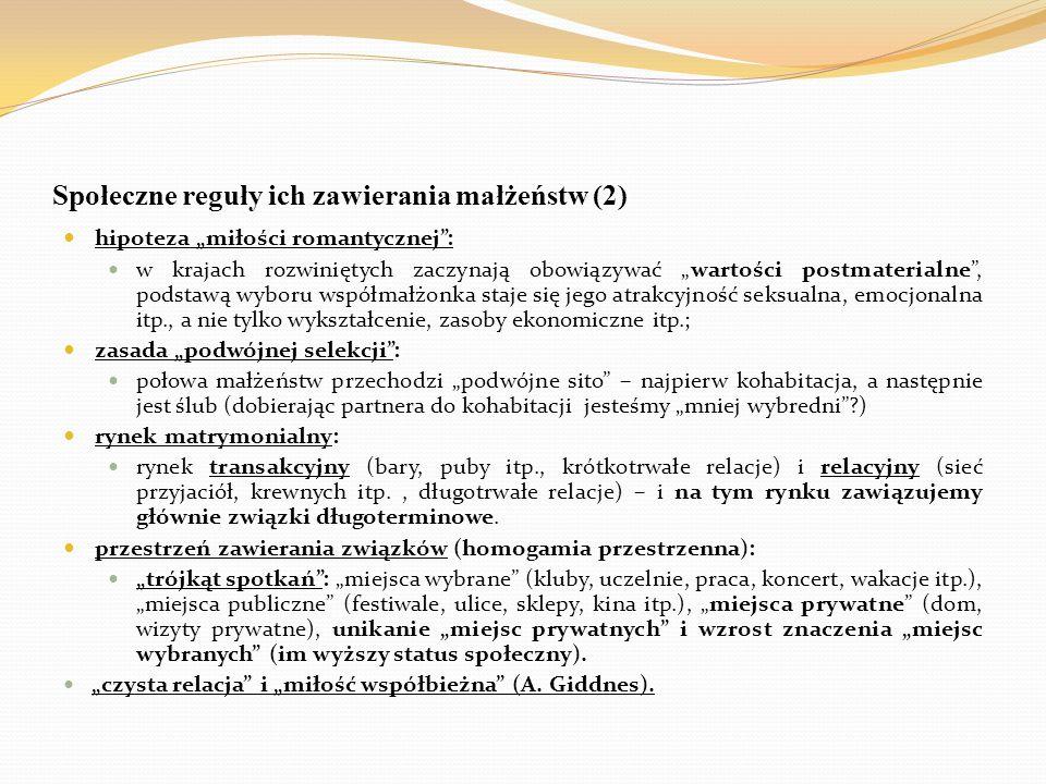 Społeczne reguły ich zawierania małżeństw (2)