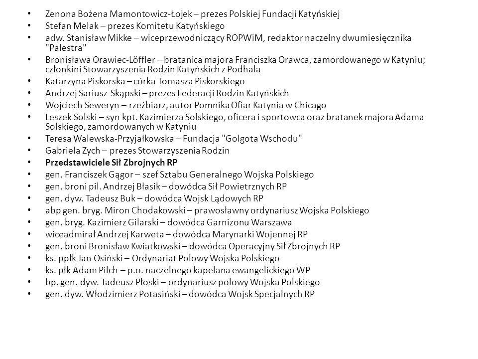 Zenona Bożena Mamontowicz-Łojek – prezes Polskiej Fundacji Katyńskiej