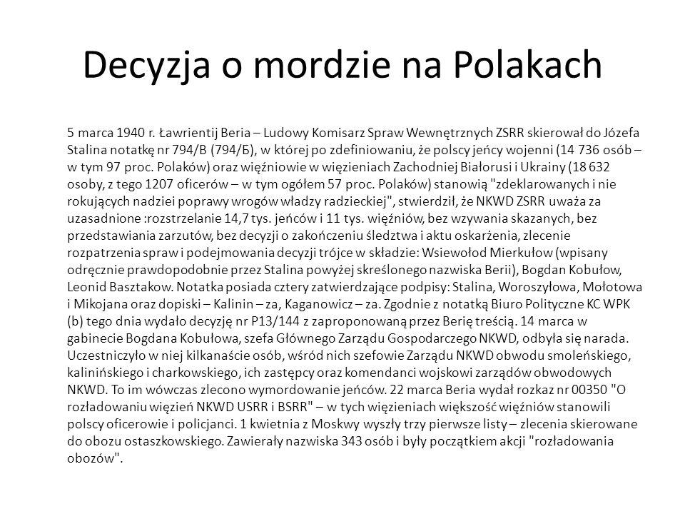 Decyzja o mordzie na Polakach