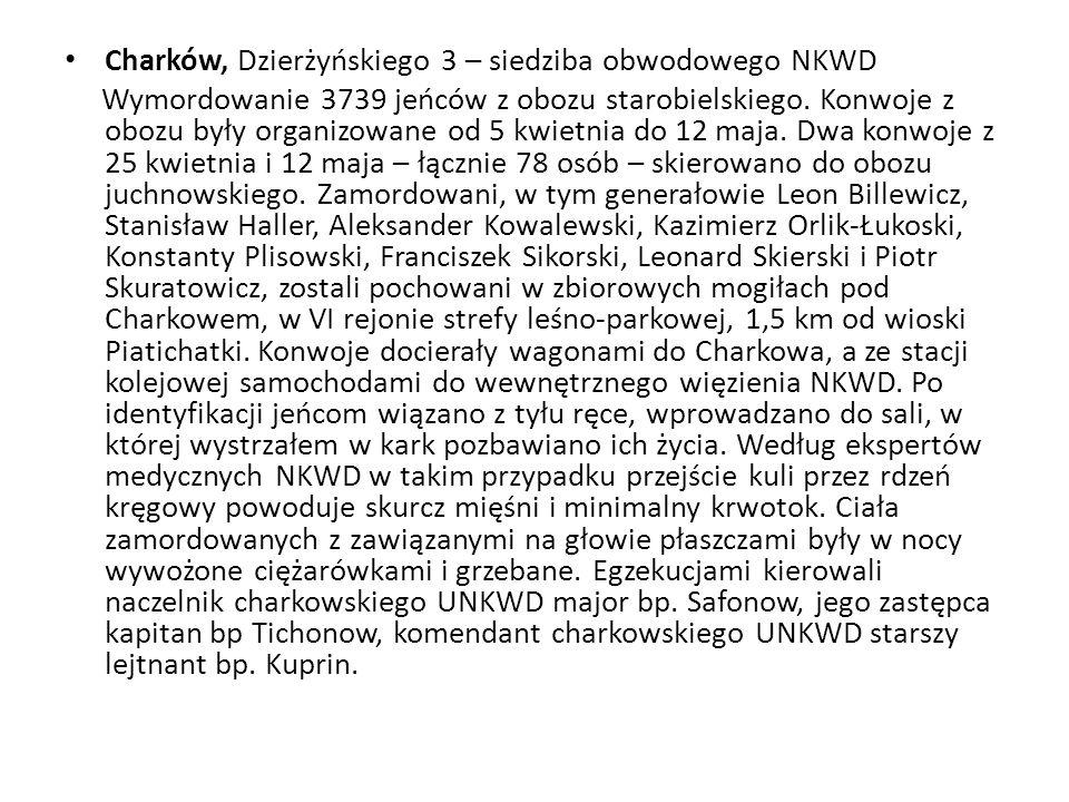 Charków, Dzierżyńskiego 3 – siedziba obwodowego NKWD