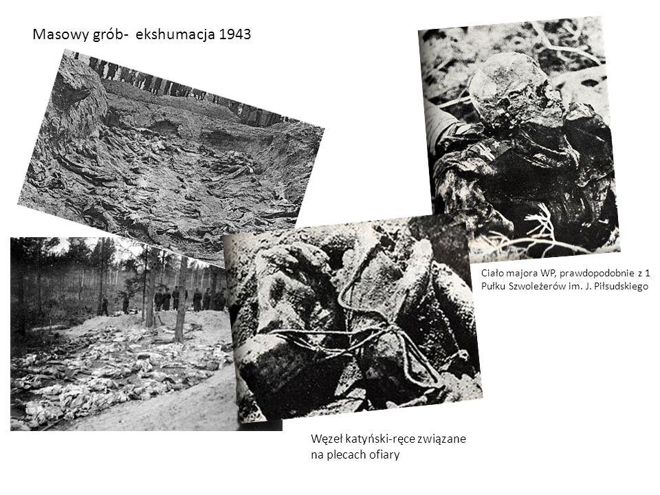 Masowy grób- ekshumacja 1943