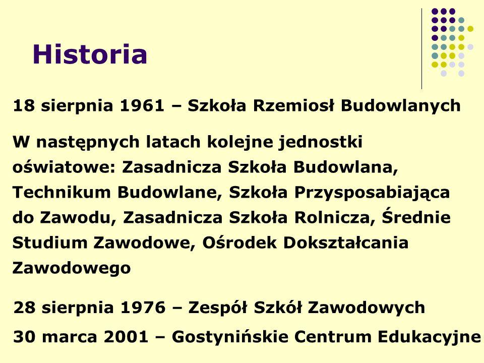 Historia 18 sierpnia 1961 – Szkoła Rzemiosł Budowlanych