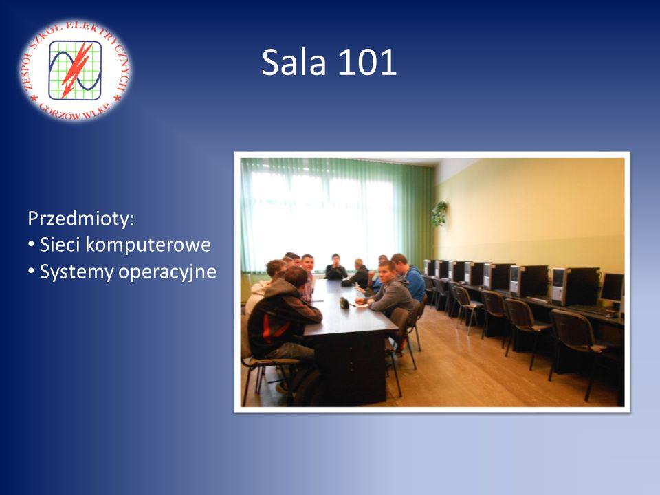 Sala 101 Przedmioty: Sieci komputerowe Systemy operacyjne