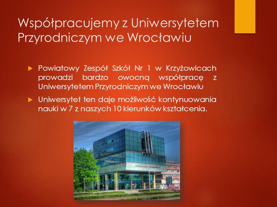 Współpracujemy z Uniwersytetem Przyrodniczym we Wrocławiu