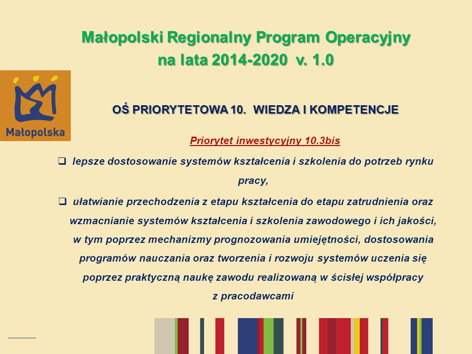 Małopolski Regionalny Program Operacyjny na lata 2014-2020 v. 1.0
