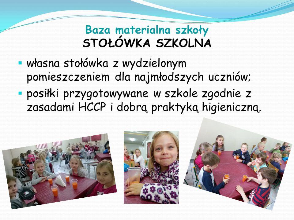Baza materialna szkoły STOŁÓWKA SZKOLNA