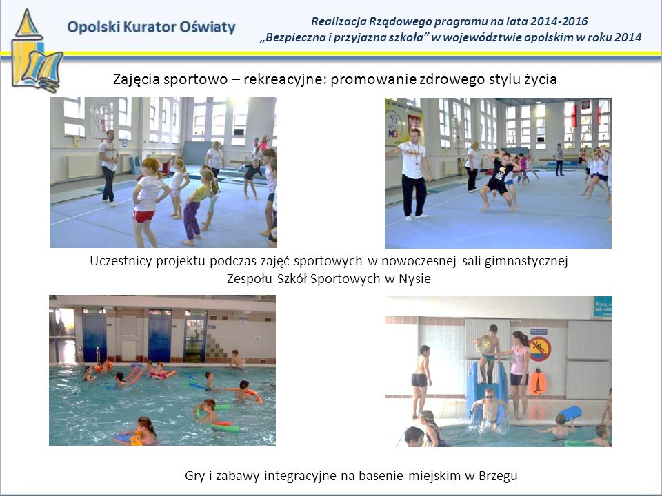 Zajęcia sportowo – rekreacyjne: promowanie zdrowego stylu życia