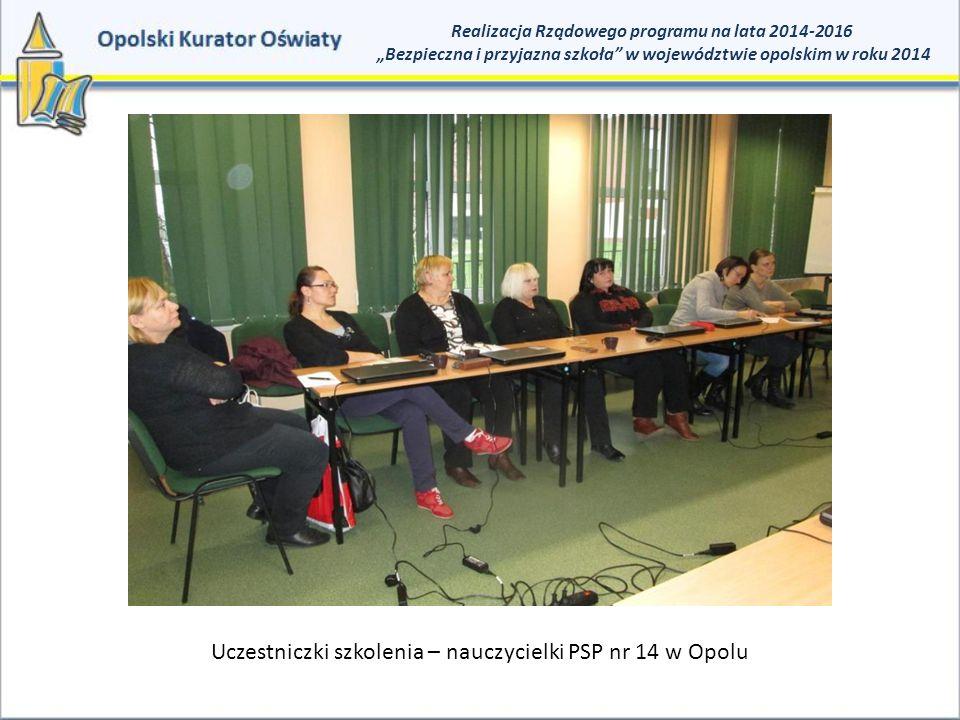 Uczestniczki szkolenia – nauczycielki PSP nr 14 w Opolu