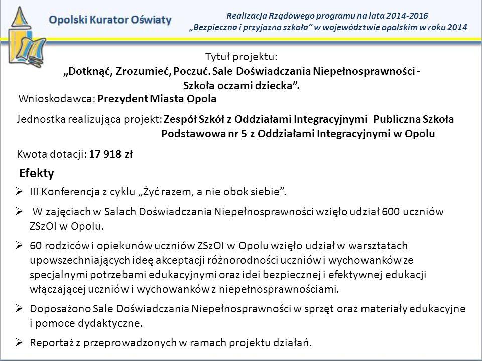 Efekty Tytuł projektu: