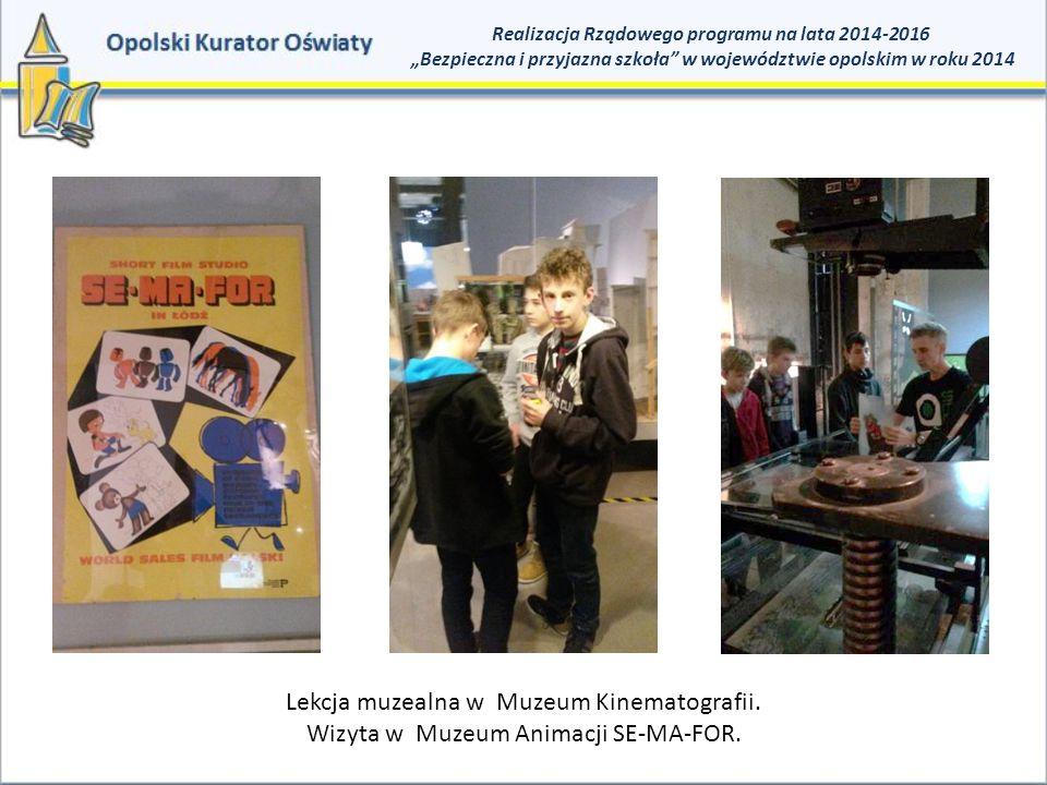 Lekcja muzealna w Muzeum Kinematografii.