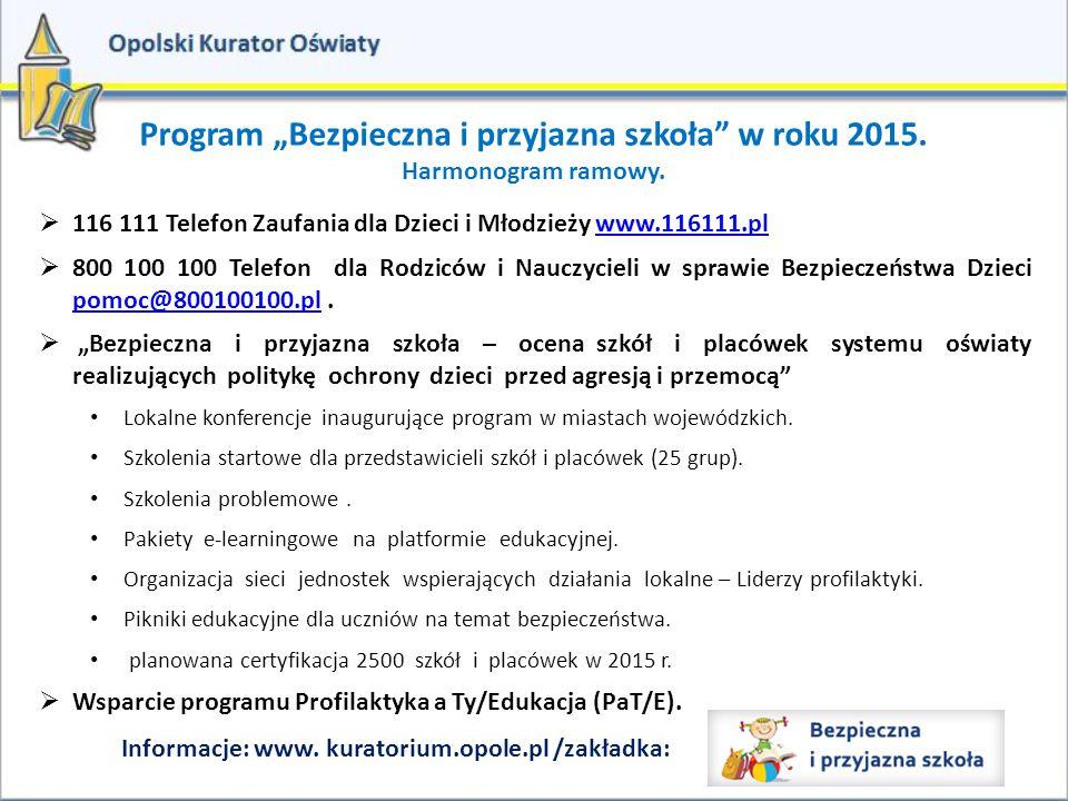 """Program """"Bezpieczna i przyjazna szkoła w roku 2015."""