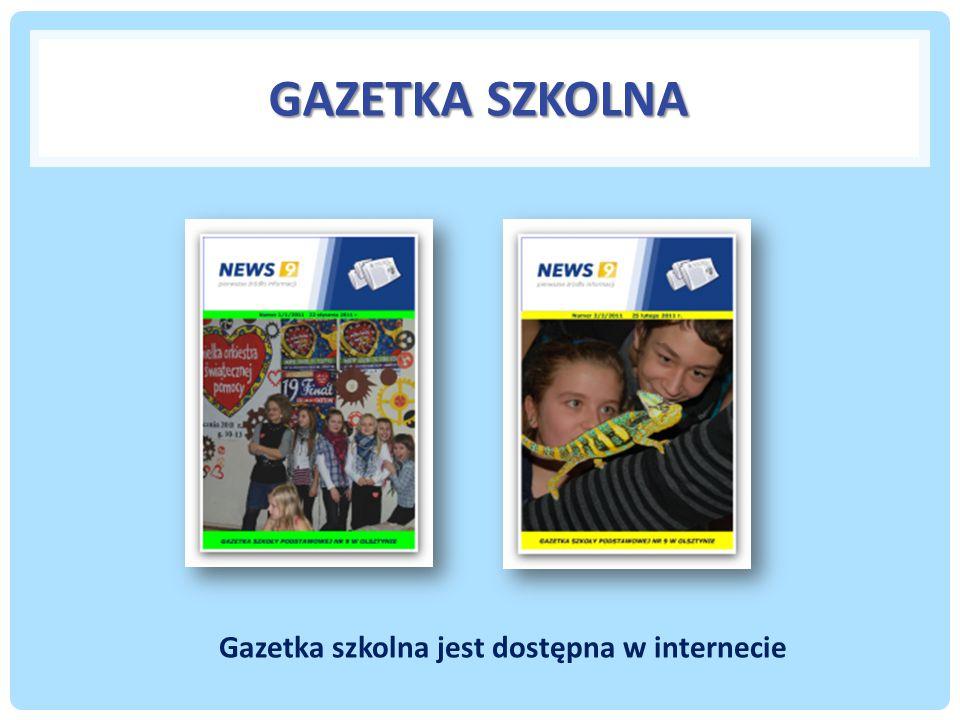 Gazetka szkolna jest dostępna w internecie