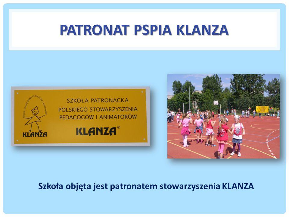 Szkoła objęta jest patronatem stowarzyszenia KLANZA