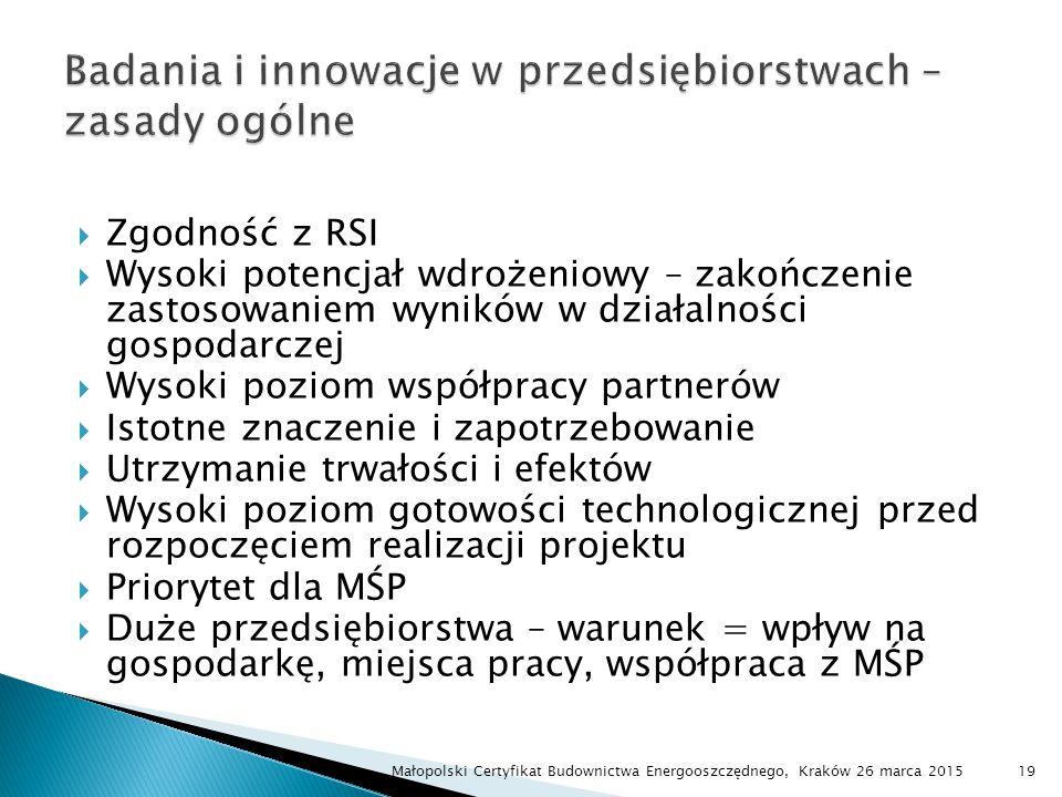 Badania i innowacje w przedsiębiorstwach – zasady ogólne