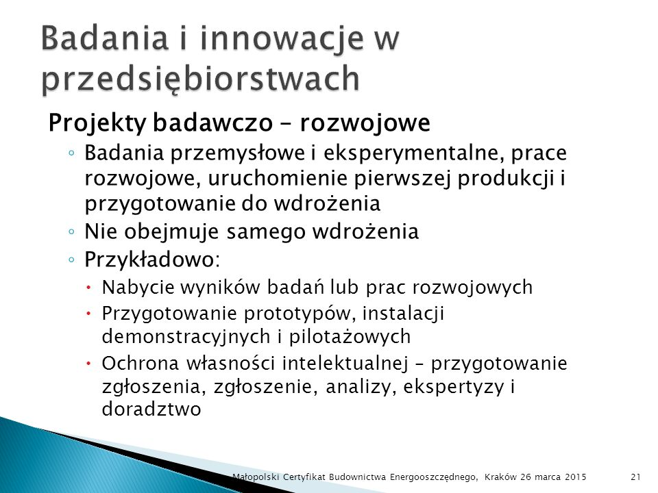Badania i innowacje w przedsiębiorstwach