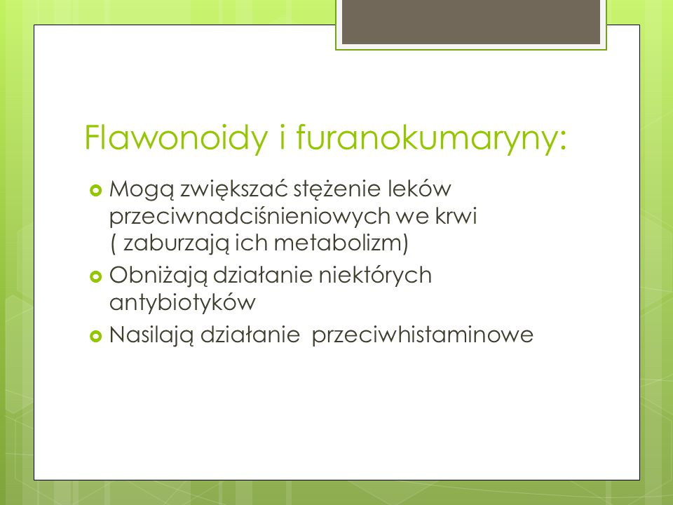 Flawonoidy i furanokumaryny: