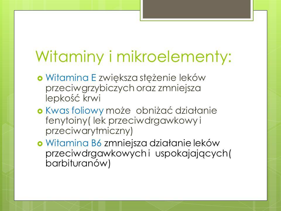 Witaminy i mikroelementy: