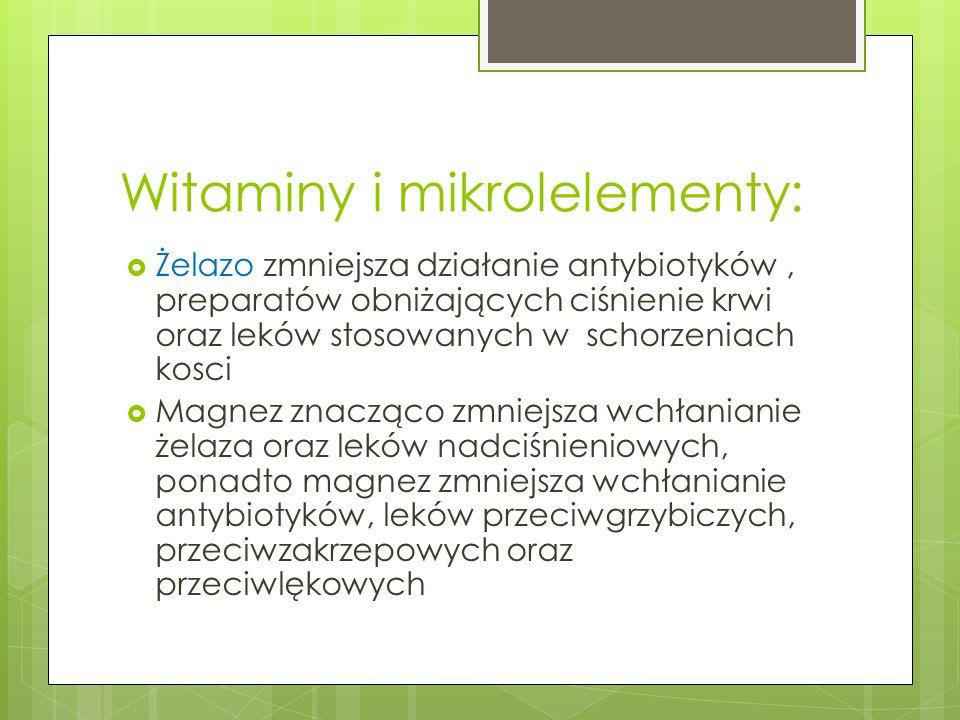 Witaminy i mikrolelementy:
