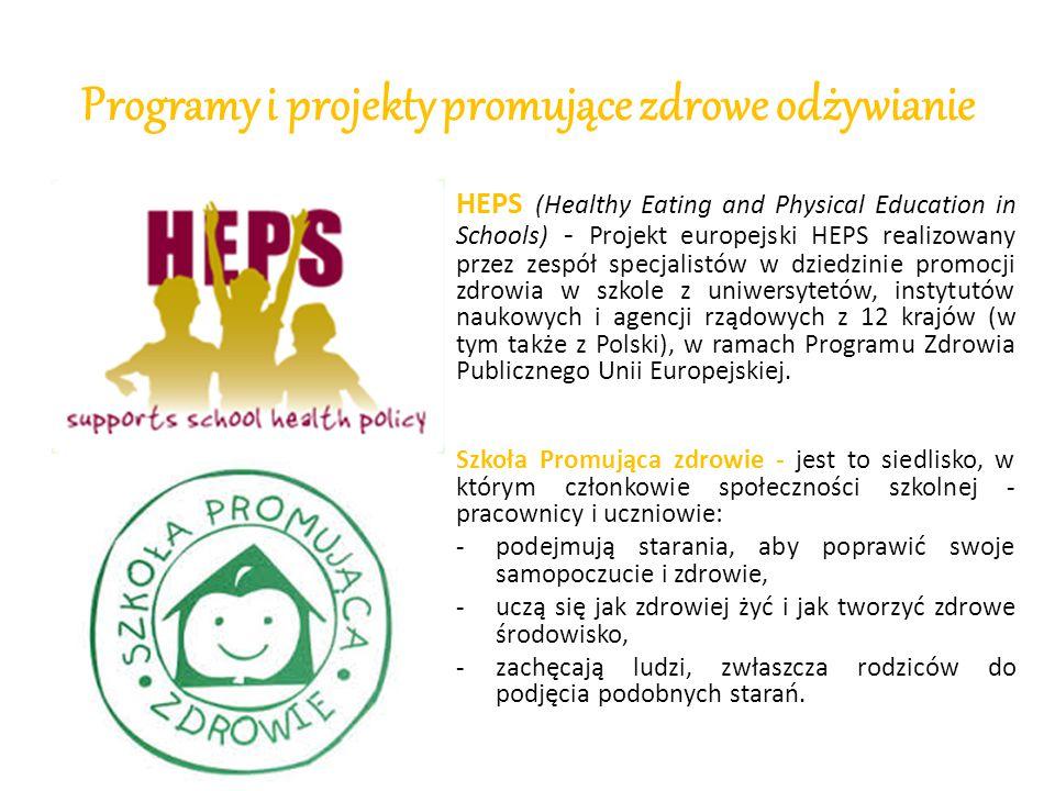 Programy i projekty promujące zdrowe odżywianie