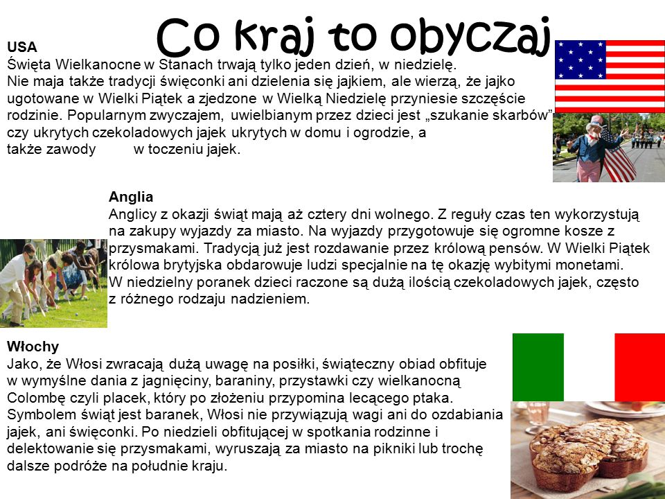 Co kraj to obyczaj USA.