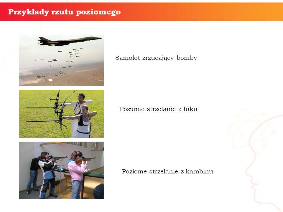 informatyka + Przykłady rzutu poziomego Samolot zrzucający bomby