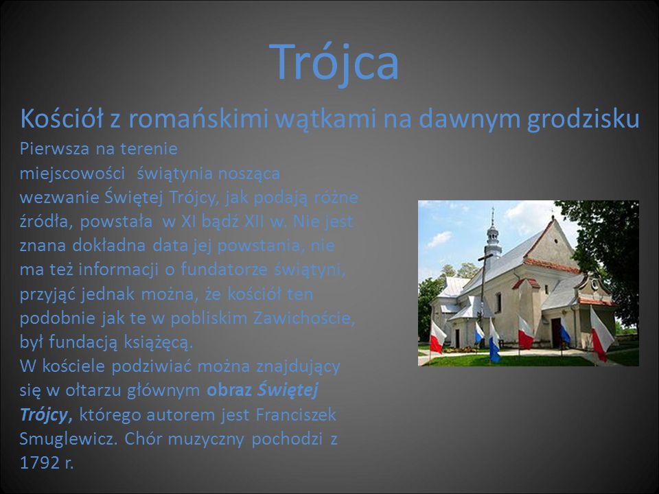 Trójca Kościół z romańskimi wątkami na dawnym grodzisku